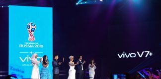 Photo Caption 1 - Vivo V7+ Perfect Moment Grand Launch (28 September 2017).