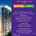Fasilitas apartemen signature park grande karya pikko group