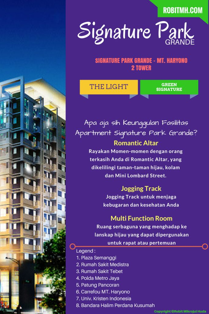 Kelebihan fasilitas apartemen signature park grande oleh pikko group