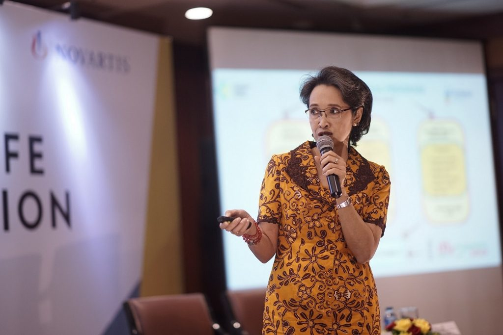 Dr. Lily Sriwahyuni di Press Conference Set Your Life Back in Motion