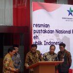 Presiden Jokowi meresmikan gedung perpusnas