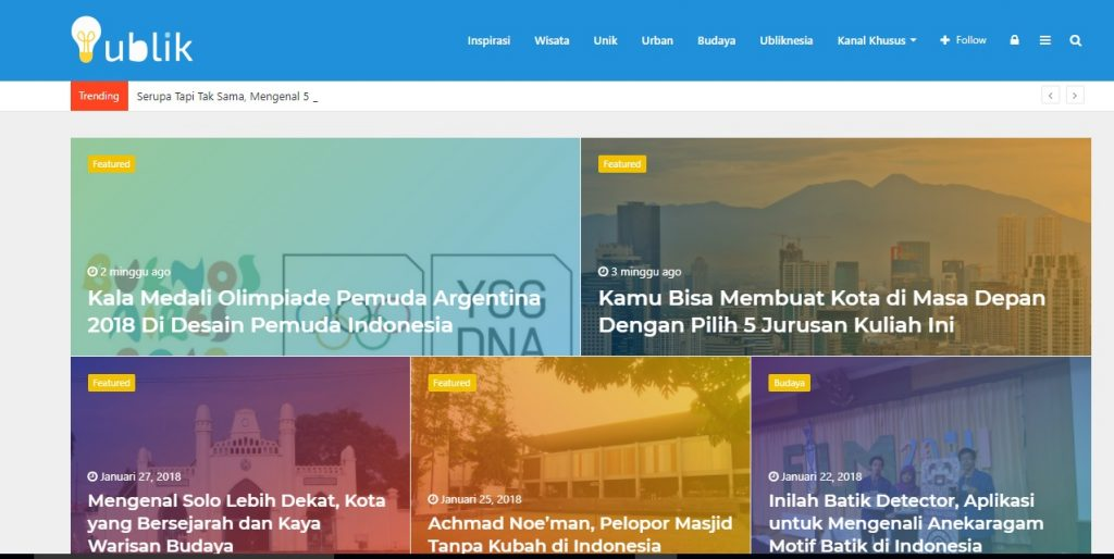 Tampilan Website Ublik