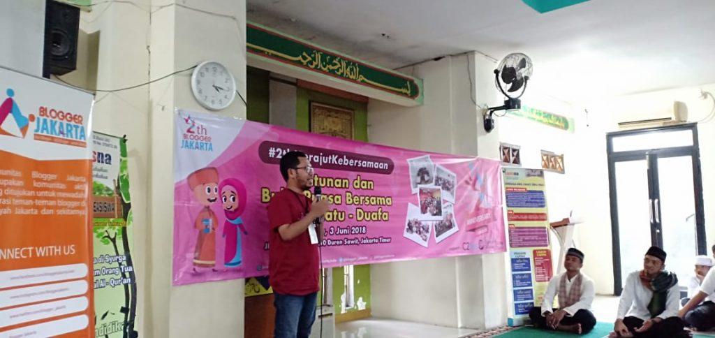 Sambutan dari Blogger Jakarta Diwakili Oleh Mas Joko