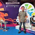 Saya di salah satu tenant di Jakarta Fair 2018