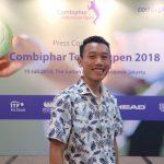 Saya saat menghadiri conference press Combiphar Tennis Open
