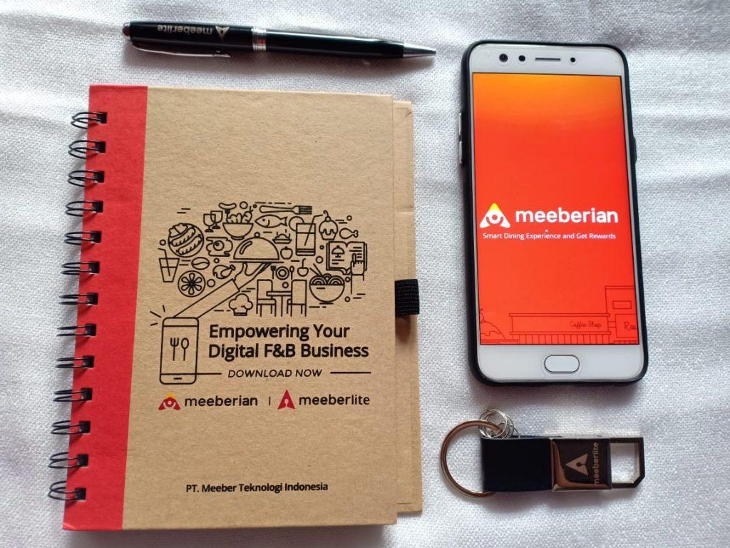 Aplikasi Meeberian di Handphone