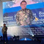 Menkominfo Rudiantara saat memberikan sambutan di Bisnis Indonesia Financial Award 2018