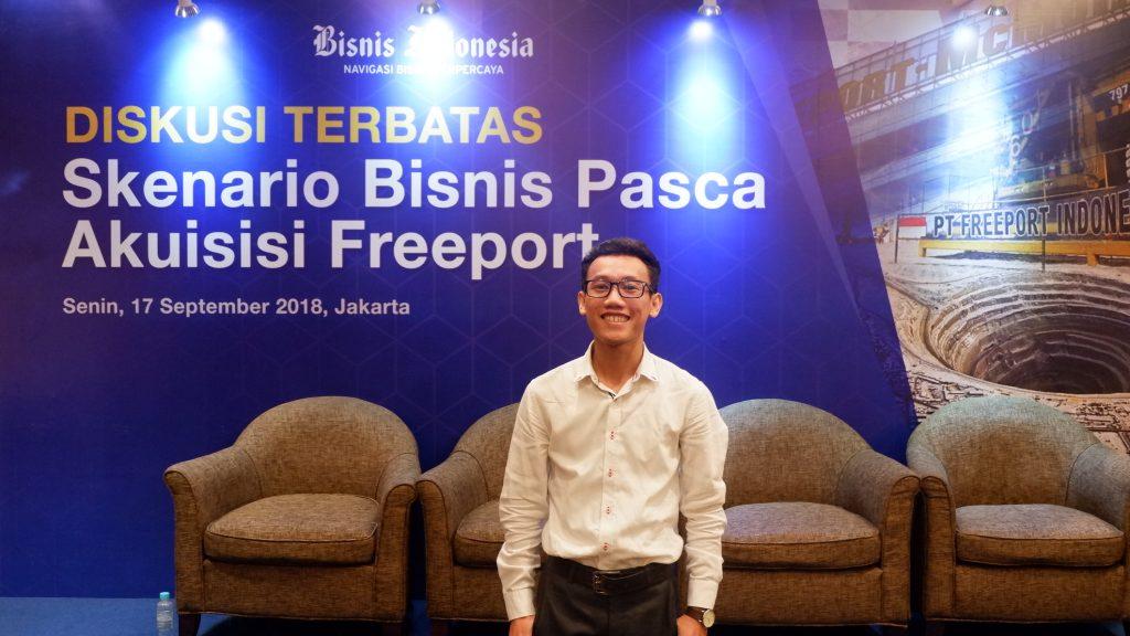 Saaya saat menghadiri Diskusi Terbatas: Skenario Bisnis Pasca Akuisisi Freeport