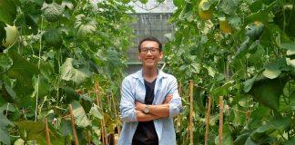 Saya saat di Perkebunan Melon Emas P3M Hambalang